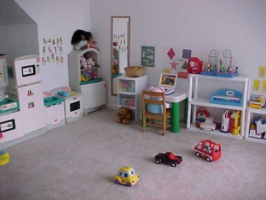 A clean, bright play area is an important part of a home daycare.