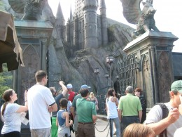 Entrance to Harry Potter and the Forbidden Journey ride