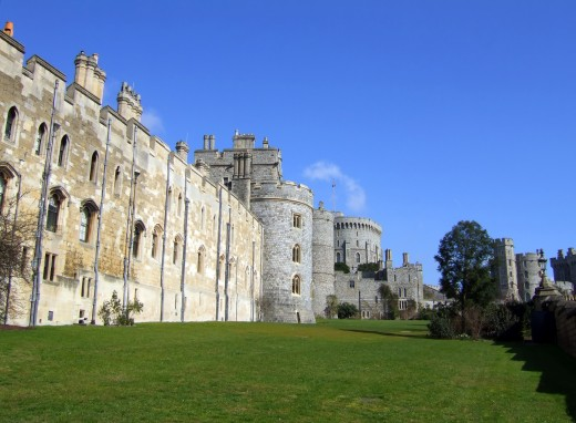 Wall of Windsor of Castle in the English county of Berkshire.