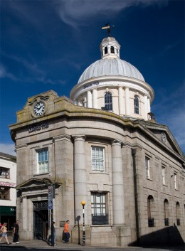 The Market House is located at the head of Market Jew Street and is now home to Lloyds Bank