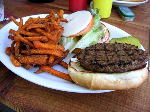 Veggie Burger: It takes a lot of energy to make soybeans look this good!