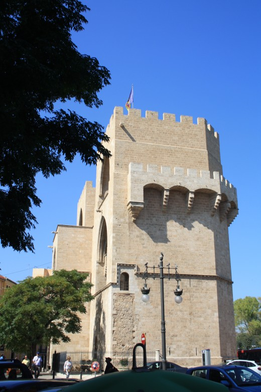 Torres de Serranos (Serranos Tower) and Torres de Cuart, Valencia, Spain