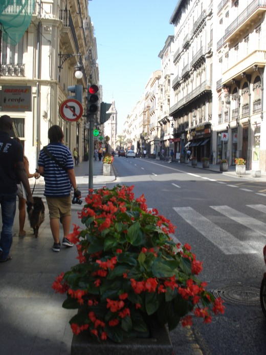 streets of Valencia center, Spain
