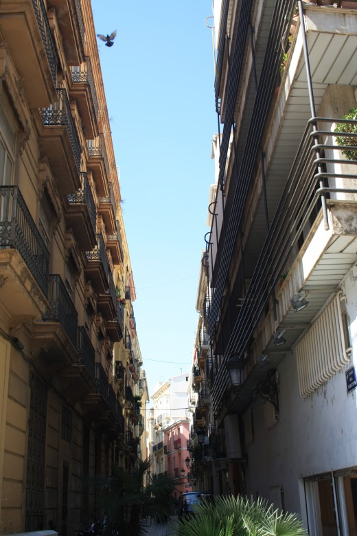 narrow streets of Valencia, Spain