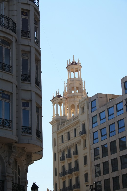 buildings in Valencia, Spain