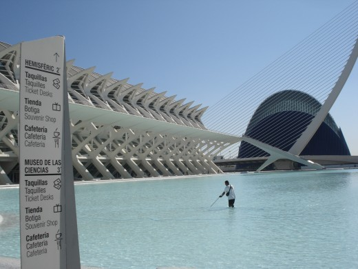 The City of Arts and Sciences Complex, Valencia, Spain