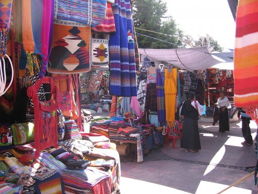 The Modern Saturday Market in Otavalo