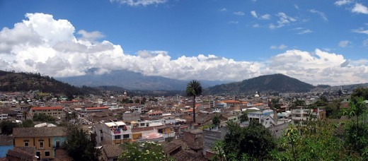 City of Otavalo, Ecuador, home of the Otavalo Indians