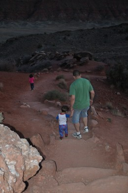 My kids have had the opportunity to see many places, with us holding their hand along the way. Here we are hiking through trails in Utah, trying to find the Arches Memorial. The views are breathtaking.