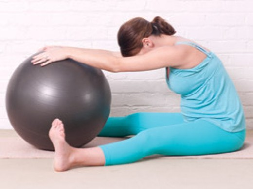 A Belly Ball Exercise at Home - By BreeTurner