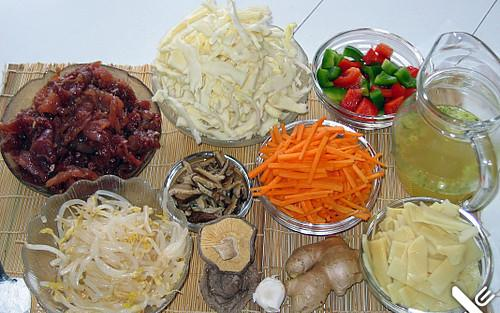 Ingredients for chop suey
