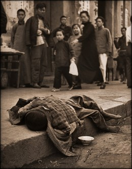 This photo is from 1946 ... but starving in the gutter is still with us.