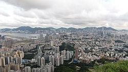 View of Kowloon and Hongkong