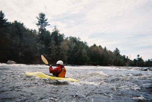 Picture of me, taken by Spike. White water kayaking, 2011. (c)2011 May.