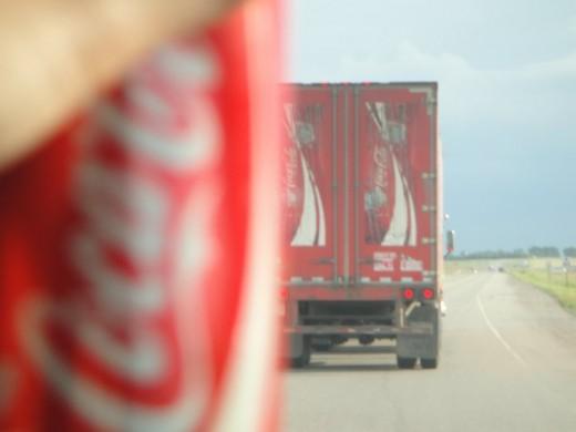 Coca-Cola Truck and Drink. ©2011 Sarah Haworth.