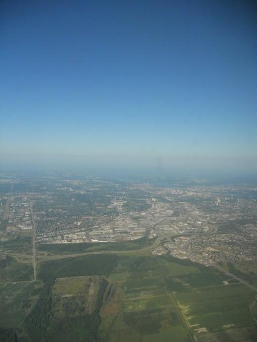 Calgary from above. ©2011 Sarah Haworth.