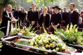 PRETTY FLOWERS, BEAUTIFUL WORDS OF RESPECT, LOVE AND FAREWELL'S ARE ALL A PART OF THE FUNERAL PROCESS.
