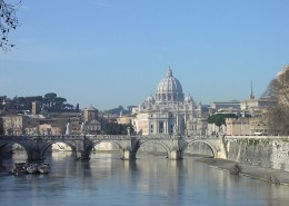 Vatican City from the Tiber.