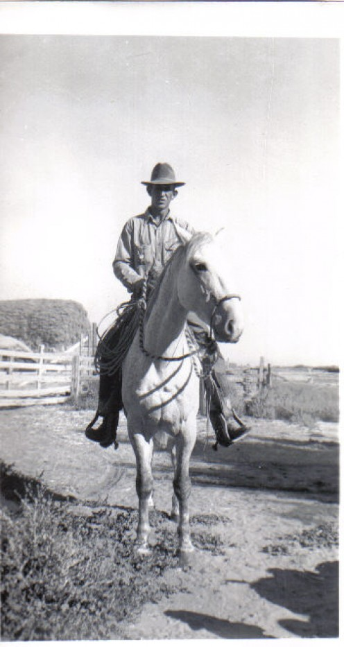 Charlie always rode a buckskin. He never mentioned a name for them. My mom asked her grandmother once why he called that beautiful horse that horrible name. It was 'You old son of a b1tch'.