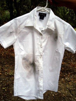 Get that stain out naturally.  Don't resort to using harmful chemicals.