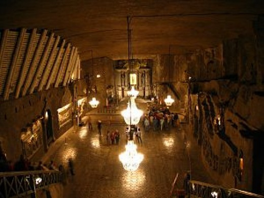 Kinga Church - the underground splendor of Wieliczka saltmine