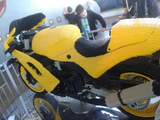 Legoland Windsor, home of amazing Lego models. There must be hundreds of thousands of Lego bricks in this full size motor bike.
