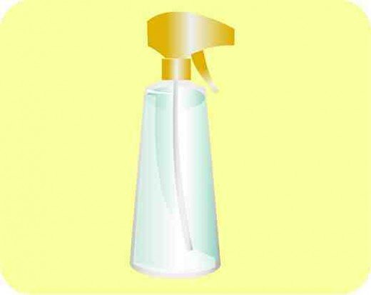 Spray bottle with Lemon Juice