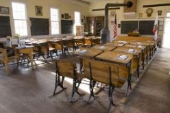 THESE DESKS ARE EXACT REPLICA'S OF THE DESKS THAT LESTER, MY CLASSMATES, AND I USED WHILE WE WERE INTO THE THREE R'S.