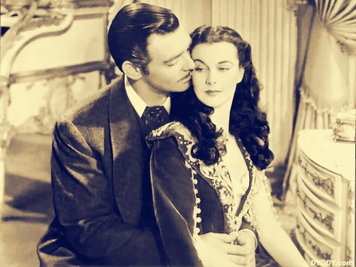 Clark Gable and Vivien Leigh in the movie version of Gone with The Wind. Source : barbie.harris37 CC BY 2.0 via flickr