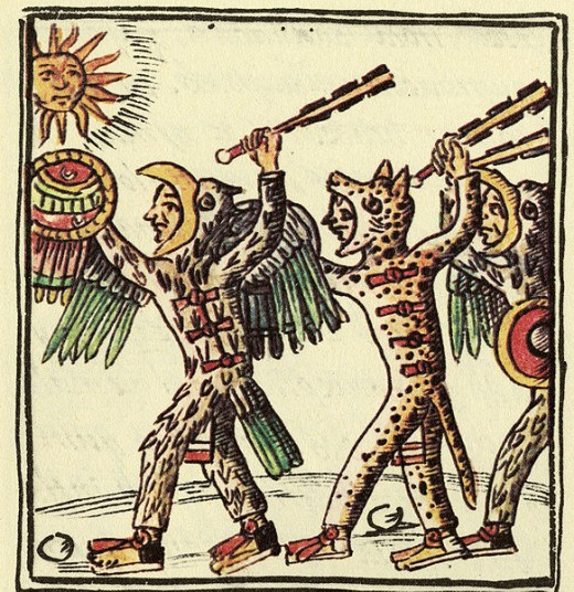A depiction of Aztec Warriors from the Florentine Codex