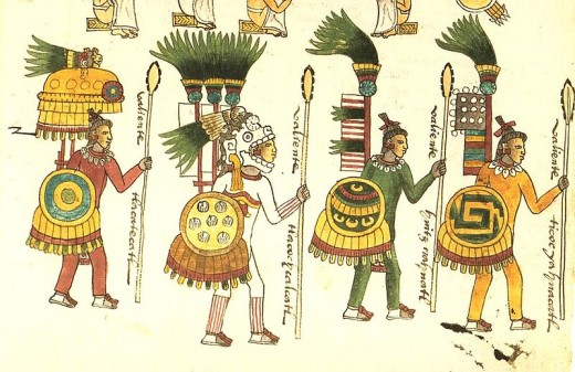 Aztec Warriors, from the Codex Mendoza
