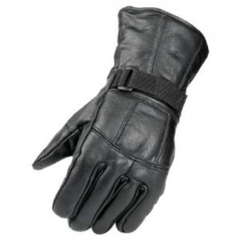 Inexpensive but stylish black leather Raider gauntlet