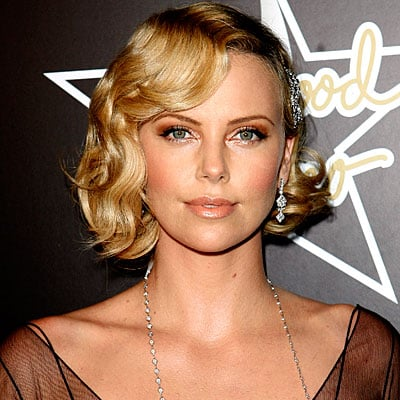 Charlize Theron looks great as a blonde using warm honey tones.