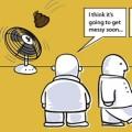 Poop hits the fan