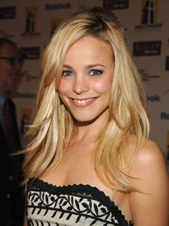 Although not usually blonde, Rachel McAdams (from the notebook) looks great with golden tresses!