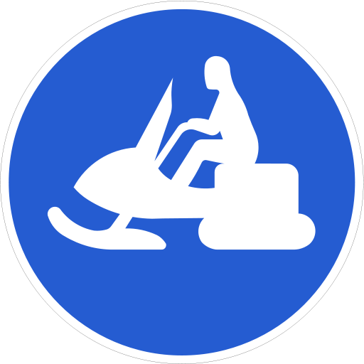 Snowmobile sign (Sweden)