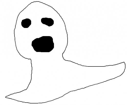 Hand drawn ghost for userbox on en.wiki