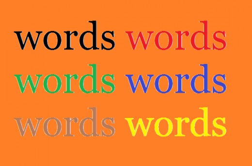 """words"" Image made by Steve Walters"