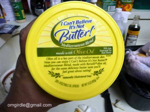 "I use the olive oil version of ""I Can't Believe It's Butter."""