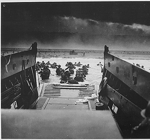 Omaha Beach Landing~Robert Capa