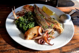 Seafood, Baska, Krk Island Croatia