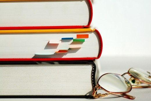 THREE BOOKS AND GLASSES by Ti_to_tito