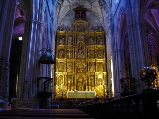 Inside Iglesia de Santa Maria Carmona in Andalucia, Spain