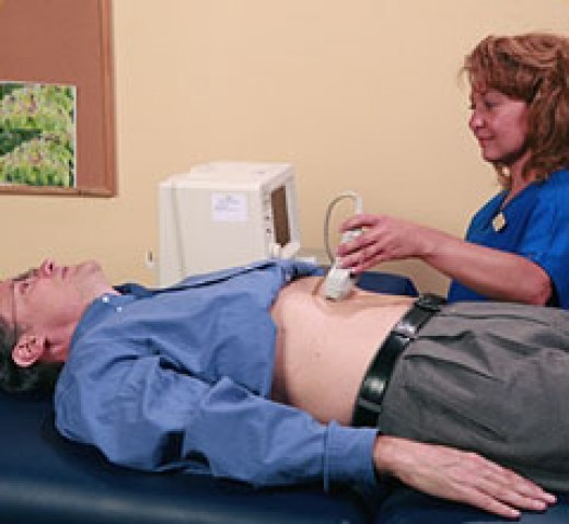 ultrasound scan for abdominal aortic aneurysm
