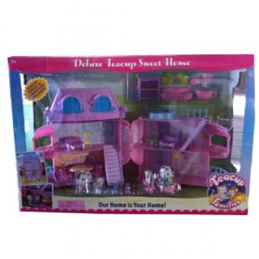 Teacup Families Domino Dalmation Family Home Sweet Home Playset