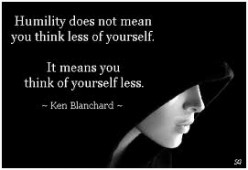 A Call To Humility