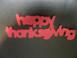 Happy Thanksgiving shadow cutout