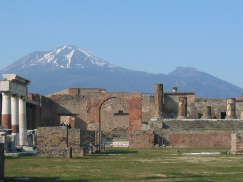 A scenic picture of Pompeii