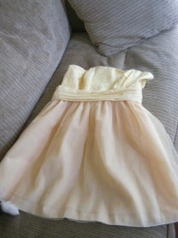 """The yellow.... dress?? The one that makes me look like a """"deranged cupcake from lemon meringue hell""""... yep, that one!"""
