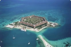 Fort Jefferson, one of the largest coastal forts ever built, is a central feature of Key West;s Dry Tortugas National Park.